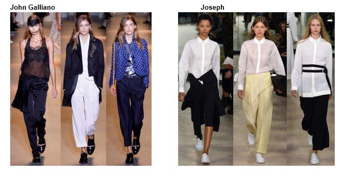 John Galliano, Joseph  - my favorite styles, outfits, accessories and footwear for Spring summer 2016 --- i miei modelli ed outfit preferiti per primavera estate 2016. Abbigliamento, scarpe, accessori e trucco. #moda #fashion #primavera2016 #summer2016 #estate2016 #spring2016 #shoes #scarpe #outfit #accessories #trend #fashiontrend #JohnGalliano #Galliano #Gallianocollection #pants #pantaloni #shirt #camicia #camiciabianca #whitepants