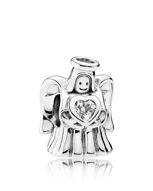 Pandora Charm - Sterling Silver & Cubic Zirconia Angel of Love, Moments Collection
