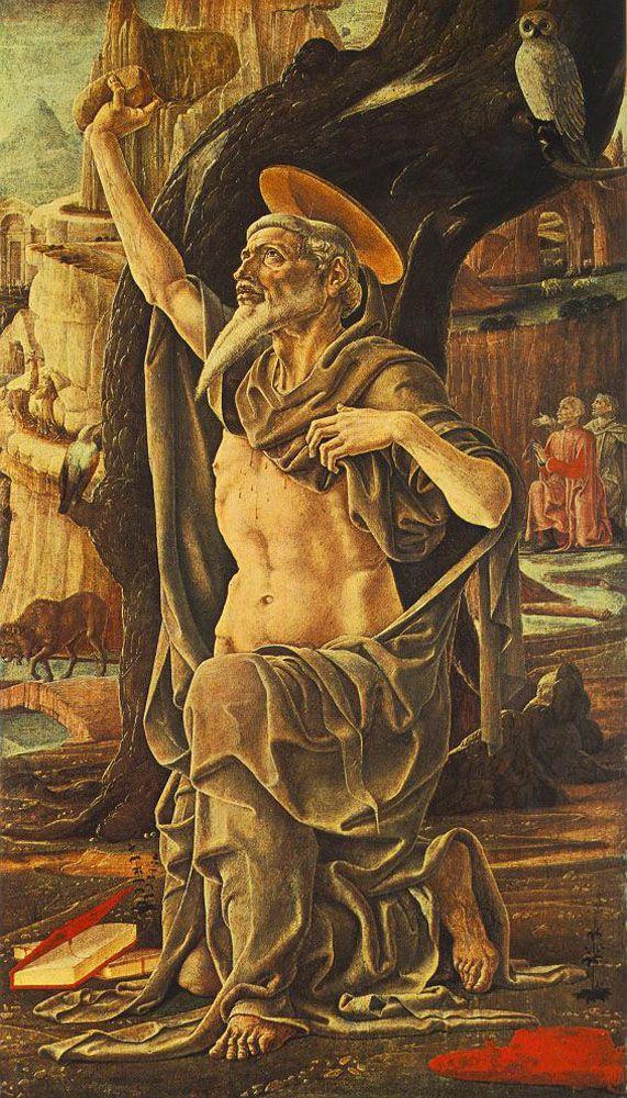 TURA, Cosmè Italian Early Renaissance (ca.1430-1495)_Saint Jerome 1474