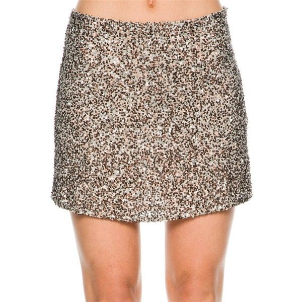 Billabong Showin Off Skirt ($100) ❤ liked on Polyvore featuring skirts, sequin skirt, billabong skirt, brown skirt and billabong