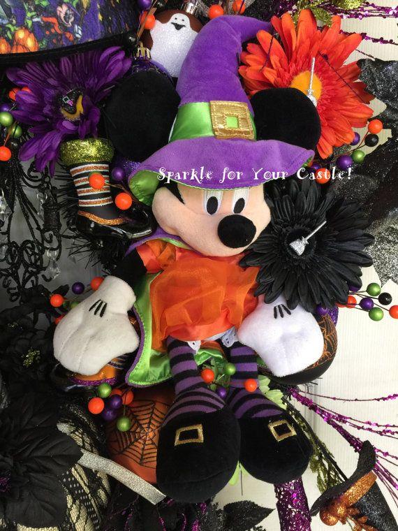 Corona de Halloween de Mickey Minnie Disney Halloween