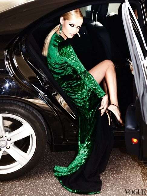 ...Because every girl needs to climb out of the backseat of a car in a fabulous dress.