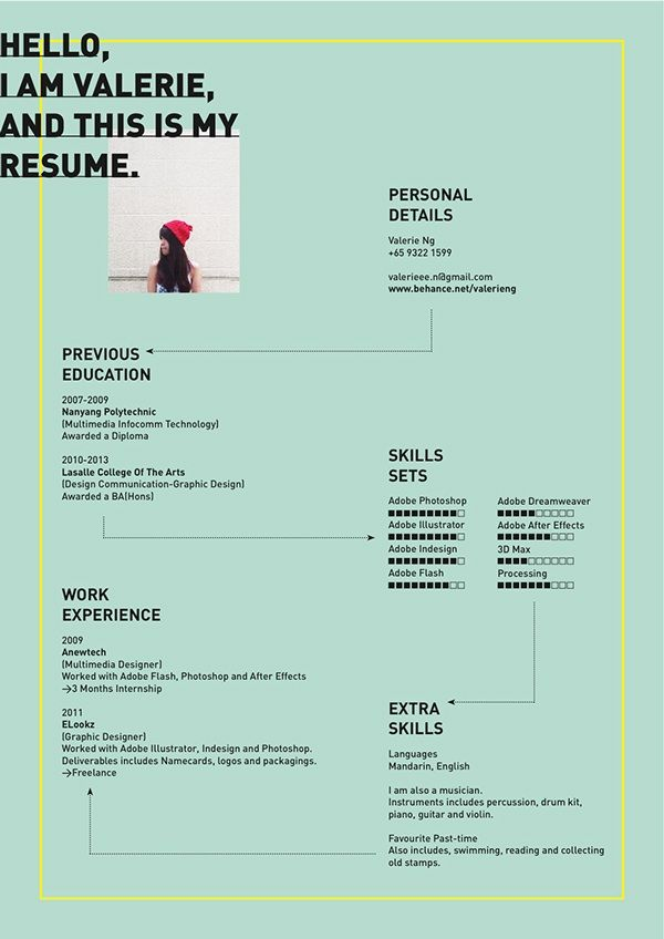 Best Inspiring Visual CvsResumes Images On