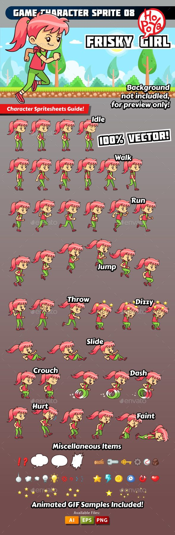 Game Character Sprite 08 - Download: http://graphicriver.net/item/game-character-sprite-08/9859593?ref=sinzo #Sprites #Game #Assets