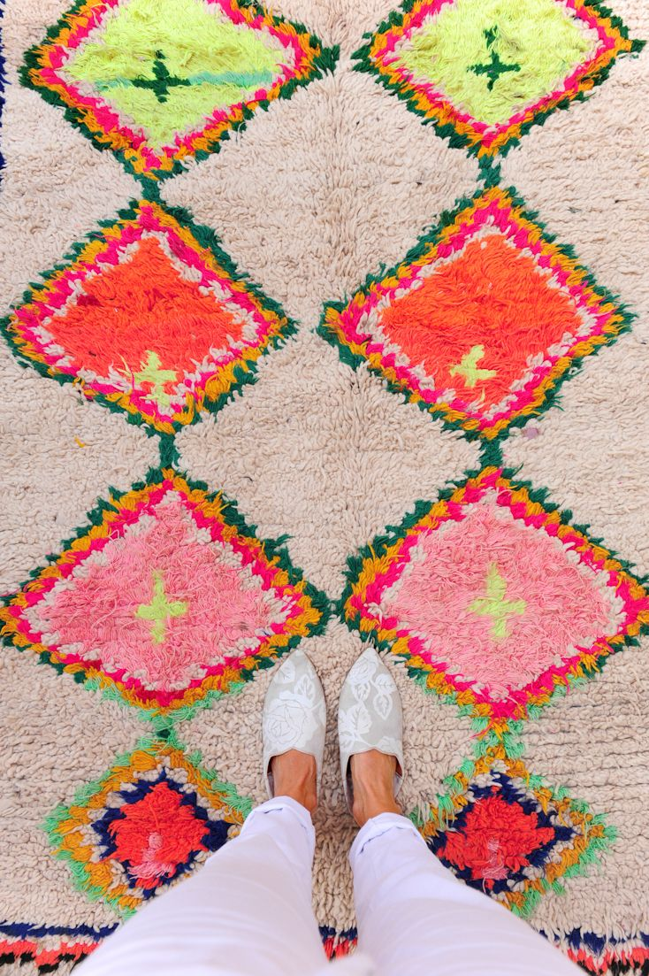 Vintage moroccan rug from pink rug co