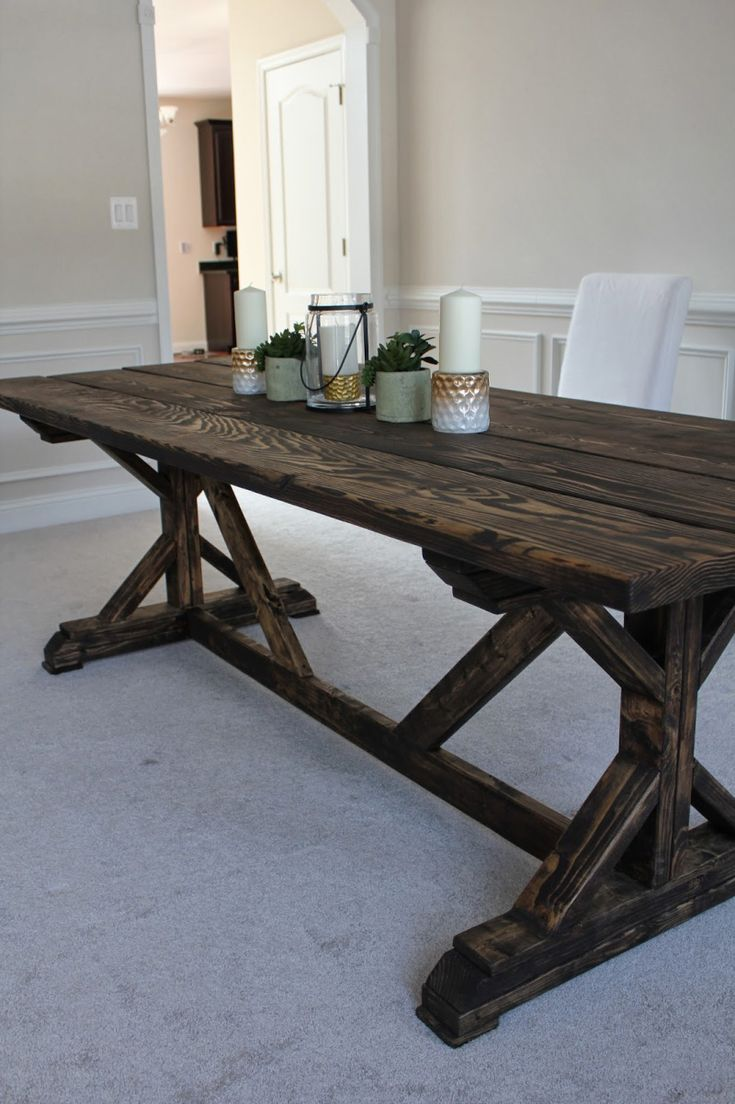 17 Best Ideas About Homemade Kitchen Tables On Pinterest