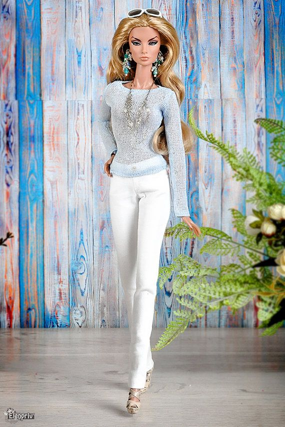 jeans//denim//outfit//clothes//pant for Fashion Royalty Doll FR2//FR//Barbie Silkstone