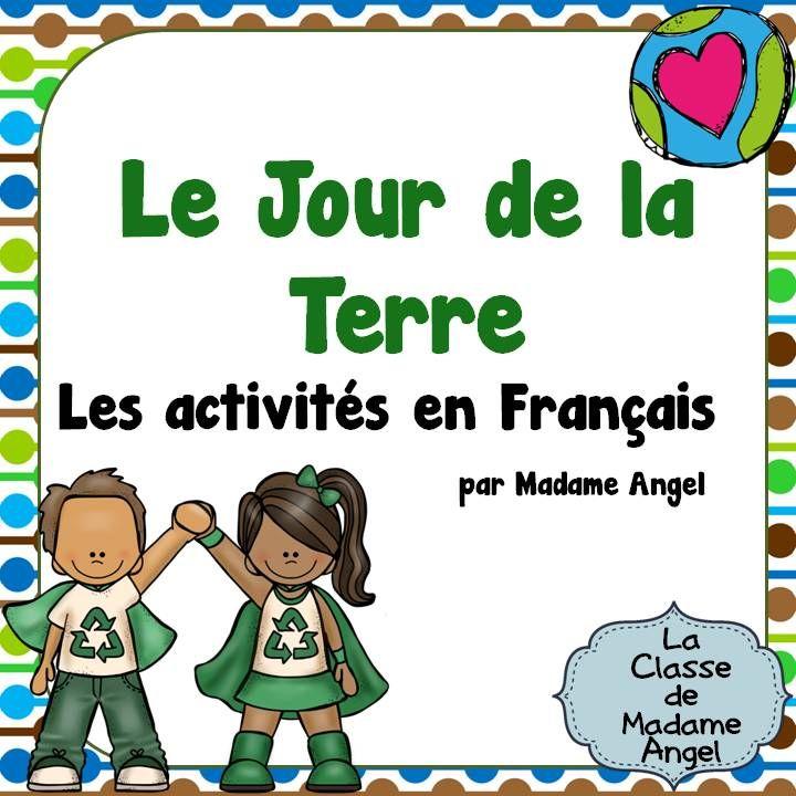 $ Earth Day language activities in French! Includes 21 word wall cards. Les activités en Français pour le Jour de la Terre!