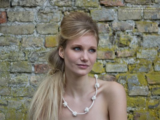 """Cotton necklace with knots    """"By it on my website ;o)"""""""