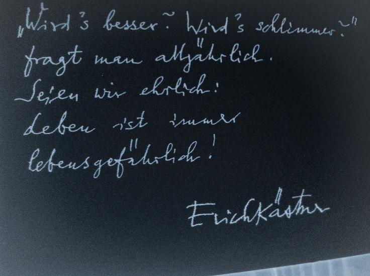Emejing Sprüche Von Erich Kästner Pictures - Ideas & Design