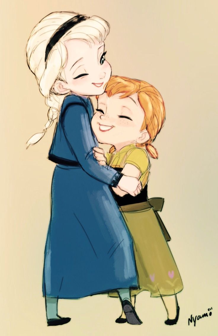 Sisterly Love- Young Anna and Elsa