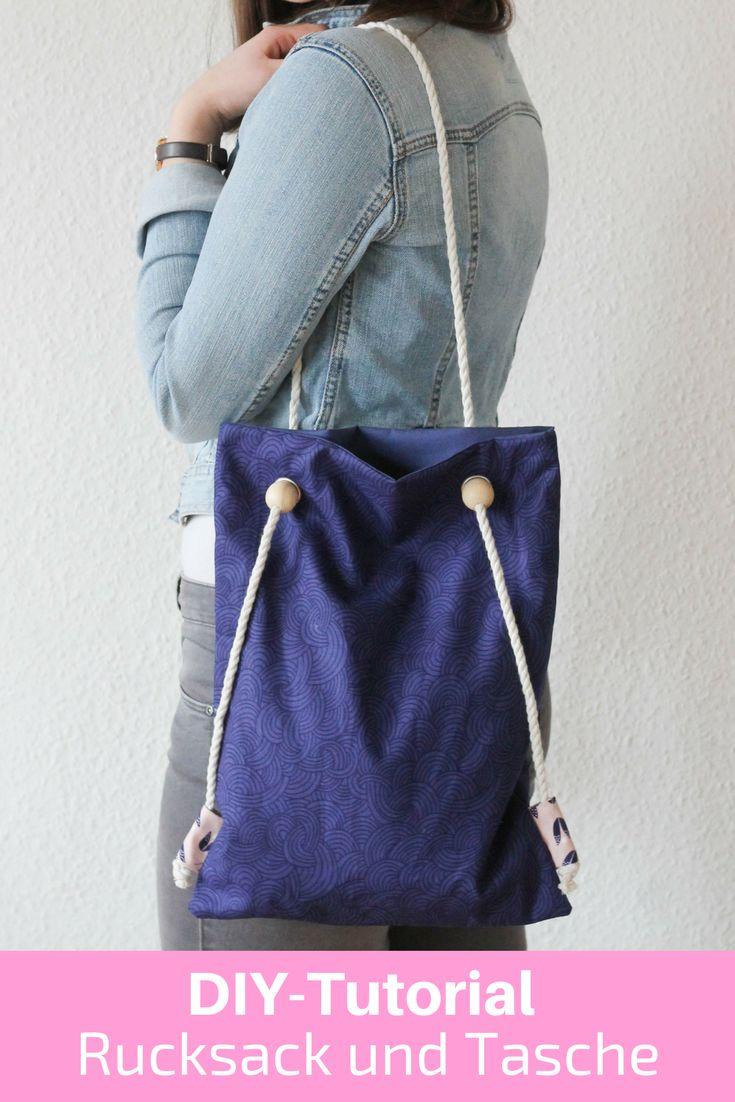 Diy Tutorial für eine Tasche mit Rucksackfunktion, Nähanleitung für Anfänger