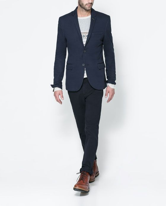Image 8 of BLAZER WITH PIPED POCKET from Zara