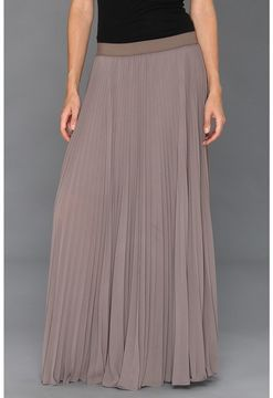 BCBGMAXAZRIA - Dallin Sunburst Pleated Maxi Skirt (London Fog) - Apparel on shopstyle.com