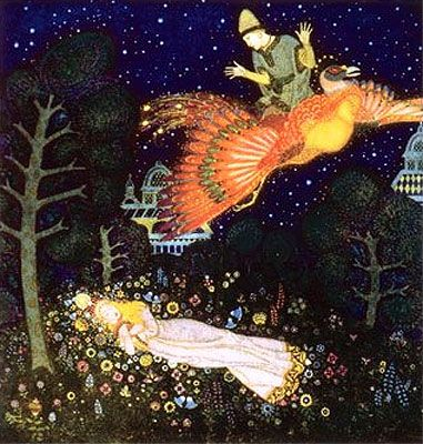 The Fire Bird; A Russian Fairy Tale - Edmund Dulac's Fairy Book; Fairy Tales of the Allied Nations. New York George H. Doran Company