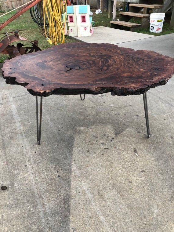 Live Edge Walnut Burl Coffee Table Coffee Table Wood Table