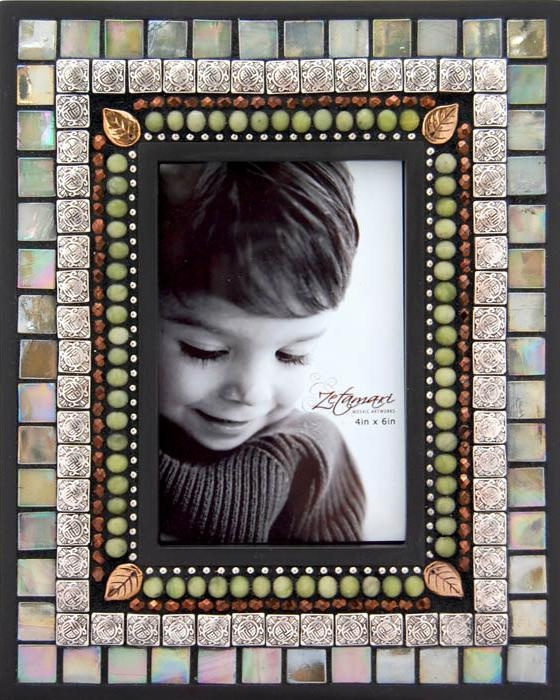 Pearl Mosaic picture frame