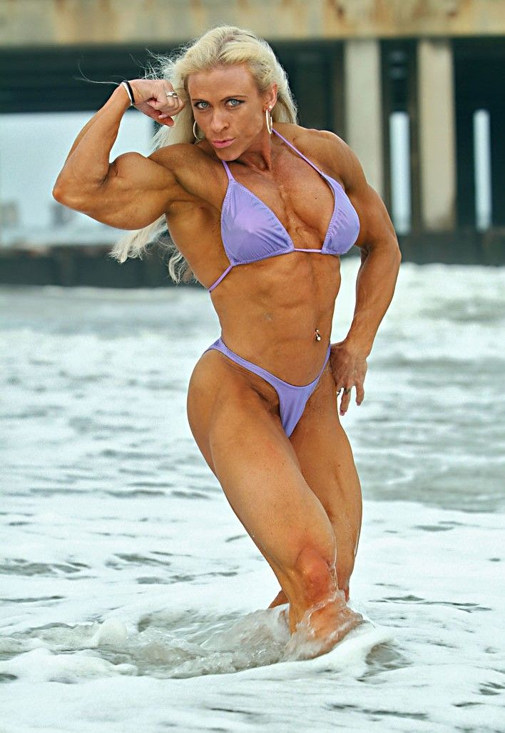 Female bodybuilder nude muscle workout 5