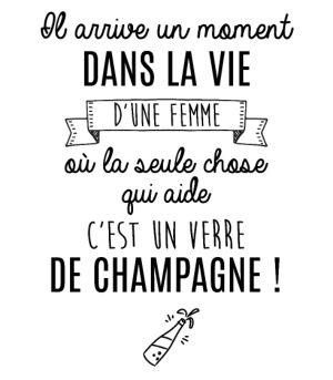 personnaliser tee shirt Un verre de champagne