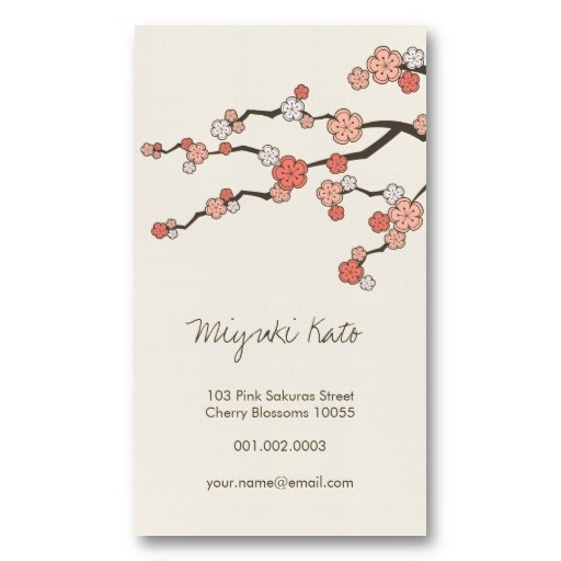 45 best asian zen business cards images on pinterest name cards pink sakura oriental zen chinese cherry blossoms business card template by fatfatin colourmoves