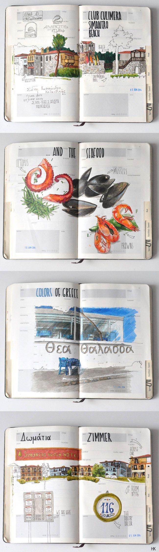 Greece travelbook BY Anna Rastorgueva ( https://www.behance.net/gallery/22487629/Greece-travelbook )