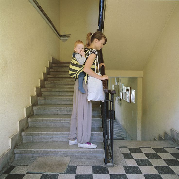 24 August, 2015 - Dóri and Andris - Stairway.  Stairs are obstacles of cities, houses, which we meet every day. Climbing the stairs with a baby or a small child is a recurring adventure every day, especially when the child can't walk up to the stairs alone. This is also a typical situation that is easier to overcome by babywearing.  #carrymeproject #cmp #hordozás #babywearing