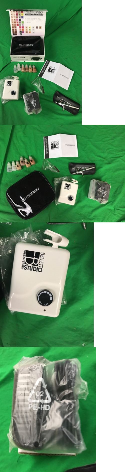 Other Makeup Tools and Accs: New In Box - Belletto Studio Hd Airbrush Makeup System - W/Makeup -> BUY IT NOW ONLY: $60.0 on eBay!