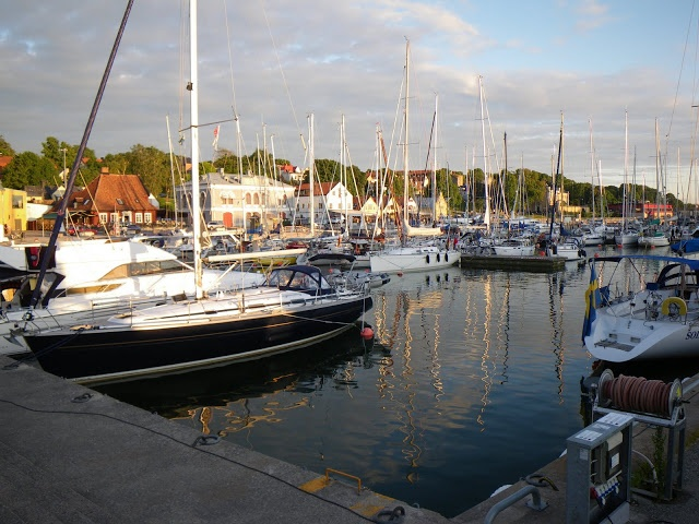 The busy inner harbour of Visby #Gotland