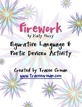 "FREE download - Use Katy Perry's popular song ""Firework"" to teach figurative language and poetic devices. (Plus, it's just a fun song to listen to in class.) Differentiate on devices for multiple levels of learning.i wish my teacher would do something like this oh how fun it would be"