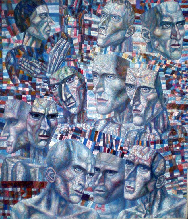 Ударники  (Мастера аналитического искусства), 1934 - 1935 гг.  Государственный Русский музей