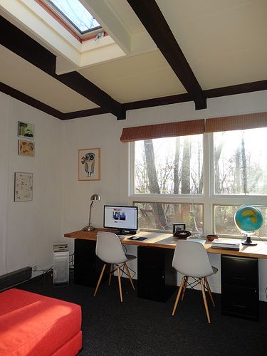 16 best two person desk images on pinterest | desk ideas, home and