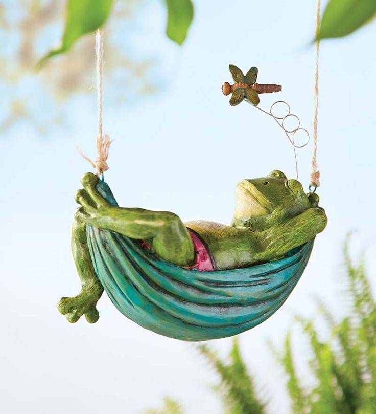 Daydreaming Animals Hanging Garden Sculpture   Animal Garden Accents