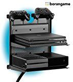 GAMESIDE BUNDLE: SOPORTE HORIZONTAL DOUBLE SHOT   LED MULTICOLOR   SOPORTE DOBLE ESTANTE FLOTANTE DE METAL Y APOYO PARA MANDOS, PARA PLAYSTATION®, XBOX®, WII® Y REPRODUCTORES DE DVD   NEGRO - http://themunsessiongt.com/gameside-bundle-soporte-horizontal-double-shot-led-multicolor-soporte-doble-estante-flotante-de-metal-y-apoyo-para-mandos-para-playstation-xbox-wii-y-reproductores-de-dvd-n/