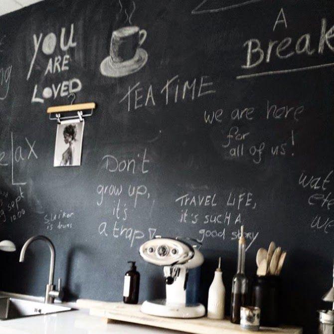 + #kitchen #chalk_wall #ideas #wood
