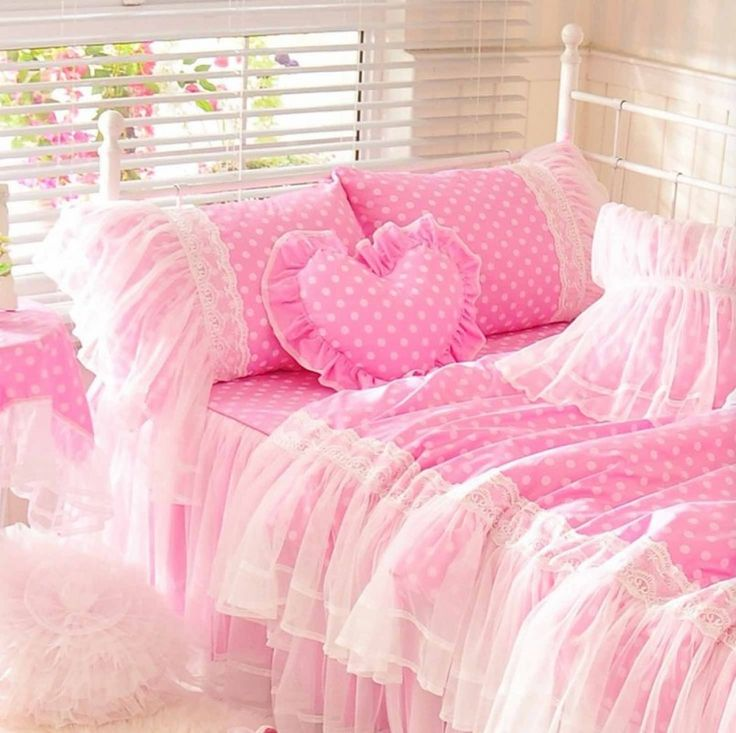 Adorable Full Kids Bedroom Set For Girl Playful Room Huz: Best 20+ Polka Dot Bedding Ideas On Pinterest