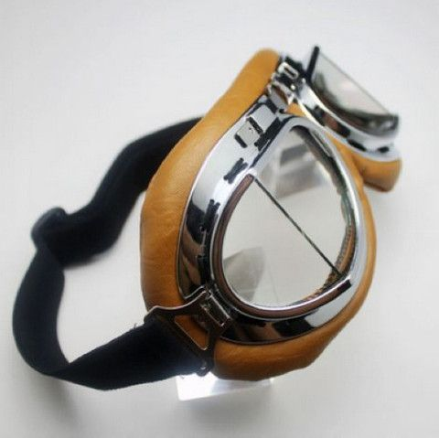 Ride in style with these Vintage Steampunk Helmet Goggles! These are padded for comfort, and wrap around for the best fit. Very well made, and for this price, you really can't go wrong! Get FREE Shipp
