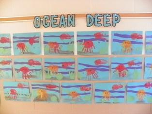 Ocean Bulletin board for our Animal Unit