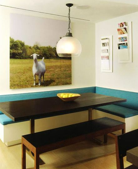 In Place Of A Dining Room Have A Nook With Bench Type Seating Against The  Wall. A Small Table Tucked In The Corner Could Be Used In A Small Space  Like An ... Part 82