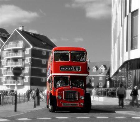 .: Buses, Photos, White Photography, Red, Black And White, Colors, Art, Color Splash, Black White