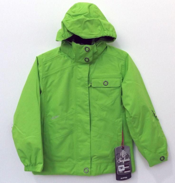 #Surfanic 5k ski #jacket kids green winter coat snowboard #waterproof cheap,  View more on the LINK: http://www.zeppy.io/product/gb/2/142195090764/