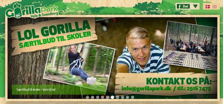 Afhold Blå Mandag på Fyn hos Gorilla Park, hvis du vil være sikker på at få en sjov og kanon udfordrende dag!