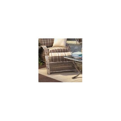 Woodard River Run Ottoman with Cushion Fabric: Sunbrella Beachball Bluestone