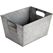 6.97 at Walmart? I need about 50 of these! Better Homes and Gardens Small Galvanized Bin, Silver