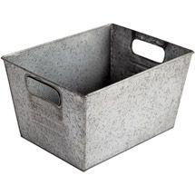 Walmart: Better Homes and Gardens Small Galvanized Bin, Silver$7