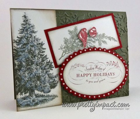 Card by Cindy Hall. Card sketch by The Paper Players. Cindy used digital images for her card, but I would stamp the images.
