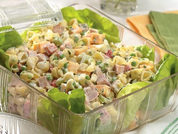 ranch ham & pasta salad: Pasta Salad Recipes, Hams, Food, Salad Dressing, Betty Crocker, Ranch Ham, 30 Minute Ham, Yummy Pasta, Ham Pasta Salads