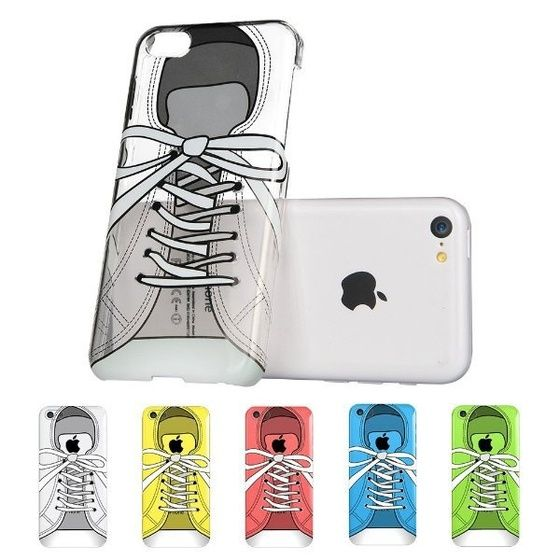 ESR Fancy Series Hard Clear Back Cover with Cute Patterns Snap on Case for iPhone 5c (Sneakers) on InStores