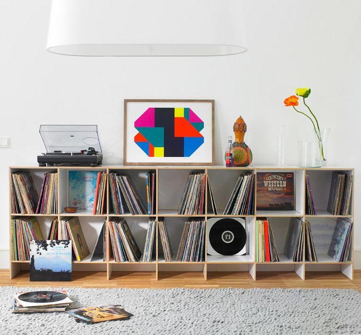 die besten 25 plattenregal ideen auf pinterest satzanzeige platten aufbewahren und. Black Bedroom Furniture Sets. Home Design Ideas
