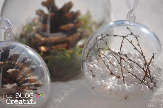 Je continue mes billets sur la déco de noel et plus particulièrement sur la fabrication de boule de Noël. Aujourd'hui je vous montre de nouvelles idées pour fabriquer des boules de Noël et cette fois-ci nous utiliserons des éléments trouvés pour l'essentiel dans la nature ! C'est parti pour une déco de Noël nature ! Pour réaliser ces boules de Noël, vous aurez besoin de boules en plexi dans lesquels vous disposerez vos éléments. (Ces boules en plexi se trouvent très facilement dans les…