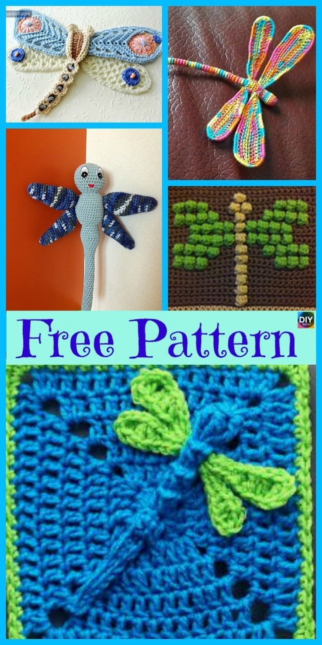 6 Beautiful Crochet Dragonfly Free Patterns Patch Work